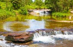 De waterval van Kbalchhay wordt gevestigd in Khan Prey Nup in Sihanoukville stock afbeelding
