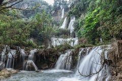 De waterval van Lor Su van Thee Stock Afbeelding