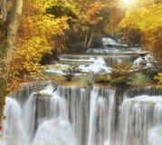 De Waterval van Mae Kamin van Huai Stock Foto