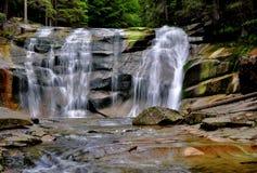 De waterval van Mumlava Stock Fotografie