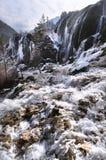 De Waterval van de parelondiepte, Jiuzhaiguo, Sichuan royalty-vrije stock afbeelding
