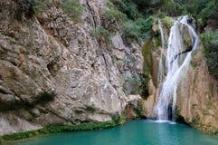 De waterval van Peloponese, Griekenland stock fotografie