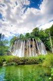 De waterval van Plitvice stock afbeelding