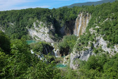 De waterval van Plitvice Stock Foto