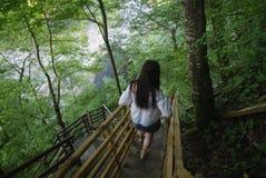 De waterval van de rivier Ashe royalty-vrije stock fotografie