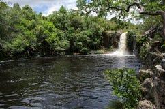 De waterval van Sãobento in Chapada-Dos Veadeiros Royalty-vrije Stock Foto's