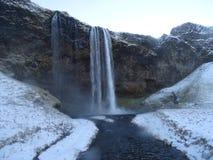 De Waterval van Seljalandsfoss, IJsland Stock Foto's