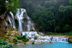 De Waterval van Si van Kuang, Luang prabang, Laos Stock Foto
