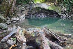 De Waterval van Sietealtares in Livingston Guatemala royalty-vrije stock afbeelding