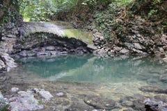 De Waterval van Sietealtares in Livingston Guatemala royalty-vrije stock foto