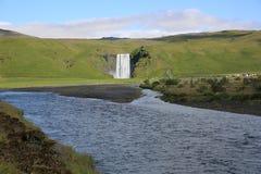 De waterval van Skogafoss Royalty-vrije Stock Foto's