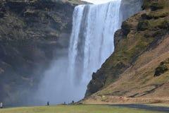 De waterval van Skogafoss Royalty-vrije Stock Afbeelding