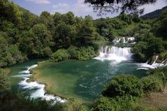 De waterval van Skradinski buk, Kroatië Stock Foto's