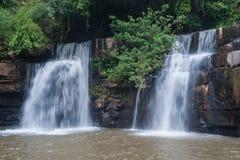 De Waterval van Sridit in het Nationale Park van Tungsalanglung, Thailand Royalty-vrije Stock Fotografie