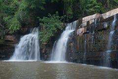 De Waterval van Sridit in het Nationale Park van Tungsalanglung, Thailand Royalty-vrije Stock Afbeelding