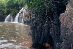De Waterval van Sridit in het Nationale Park van Tungsalanglung, Thailand Stock Foto
