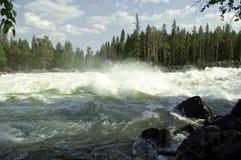 De waterval van Storforsen Stock Afbeelding