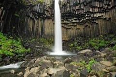 De waterval van Svartifoss Stock Foto's
