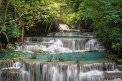 De waterval van Thailand in Kanchanaburi Stock Afbeelding
