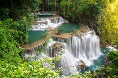 De waterval van Thailand in Kanchanaburi Stock Afbeeldingen