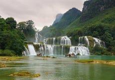 De Waterval van verbodsgioc in Cao Bang, Vietnam Stock Foto