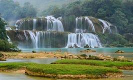 De Waterval van verbodsgioc in Cao Bang, Vietnam Royalty-vrije Stock Fotografie