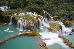 De Waterval van verbodsgioc in Cao Bang, Vietnam Royalty-vrije Stock Afbeeldingen