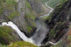 De waterval van Voringsfossen, Noorwegen Royalty-vrije Stock Afbeeldingen