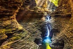 De waterval van Watkinsglen state park Stock Fotografie