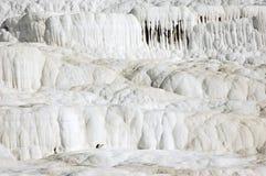 De watervallen Pamukkale Turkije van het calcium Royalty-vrije Stock Afbeeldingen