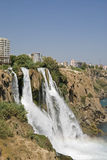 De watervallen van Düden in Antalya, Turkije Stock Foto