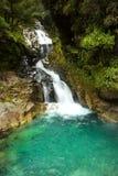 De watervallen van de dalingenkreek in Nieuw Zeeland Royalty-vrije Stock Foto