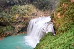 De watervallen van Gr Chiflon in Chiapas, Mexico stock foto's
