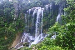 De Watervallen van Gr Nicho, Cuba Stock Foto
