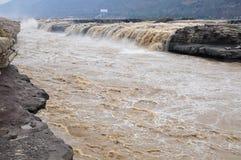 De watervallen van Hukou Stock Foto