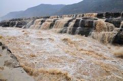 De watervallen van Hukou Stock Afbeeldingen