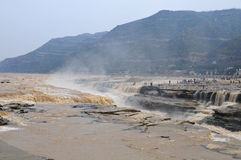 De watervallen van Hukou Royalty-vrije Stock Afbeelding