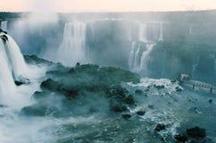 De Watervallen van Iguassu Stock Foto's