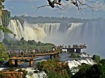 De watervallen van Iguazu in Argentinië stock afbeeldingen