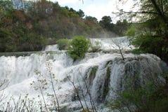 De watervallen van Krka, Kroatië royalty-vrije stock fotografie