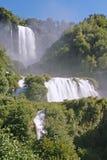 De watervallen van Marmore Stock Foto