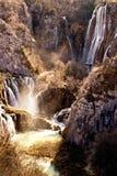De watervallen van Plitvice Stock Fotografie