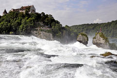 De watervallen van Rijn Stock Foto's