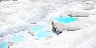 De watervallen van Traventine Stock Afbeeldingen