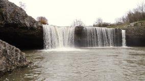 De watervallen van Zareckikrov Pazin stock video