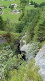 De watervallenwater Zwitserland van de Lauterbrunnencascade Stock Afbeeldingen