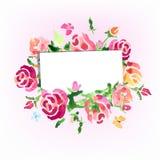 De waterverf bloeit achtergrond op de dag van rozenvector stock illustratie