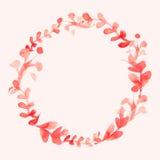De waterverf bloeit kroon Hand geschilderde huwelijksillustratie Ve Royalty-vrije Stock Afbeeldingen