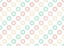De waterverf omcirkelt patroon Stock Afbeelding
