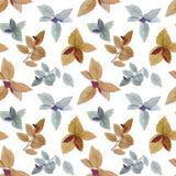 De waterverf schilderde bladeren Elegante bladeren voor kunstontwerp royalty-vrije illustratie